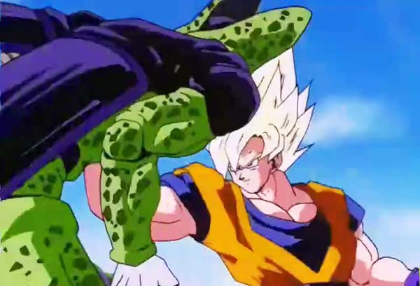 batalla de goku vs cell en videos de goku